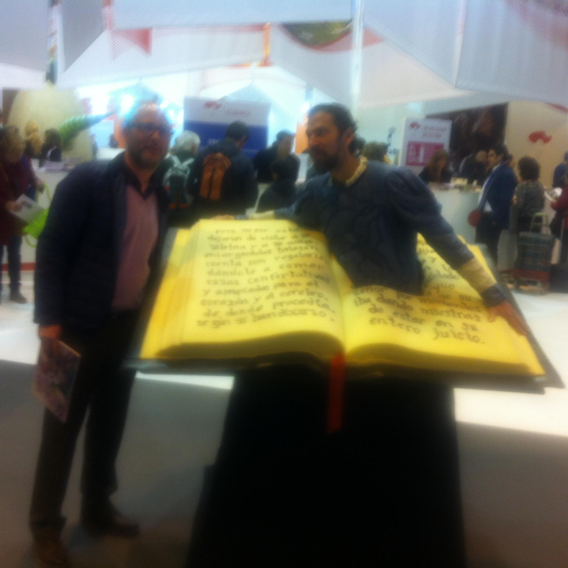 Con Cervantes dentro de un libro